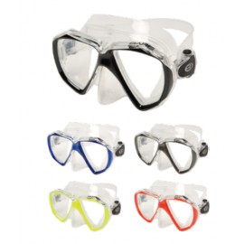 DUO C - Double Lens Mask in Clear Silicone