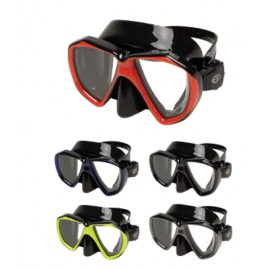 DUO B - Double Lens Mask in Black Silicone