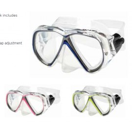 DUO COMPACT - Small Frame Double Lens mask in Clear Silicone