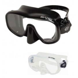 FRAMELESS Mask, Single lens, Black silicone