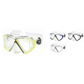 QUAD C - 4 Lens Panoramic Mask in Clear Silicone