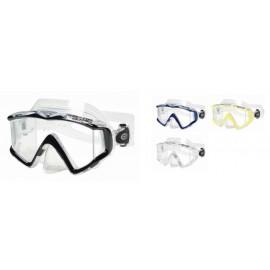 TRIO C - Tri-Lens Mask in Clear Silicone